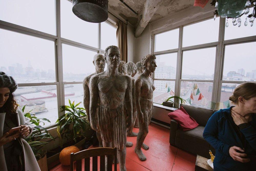 Sculptures by Deborah Masters. Photo: Randall Bellows III