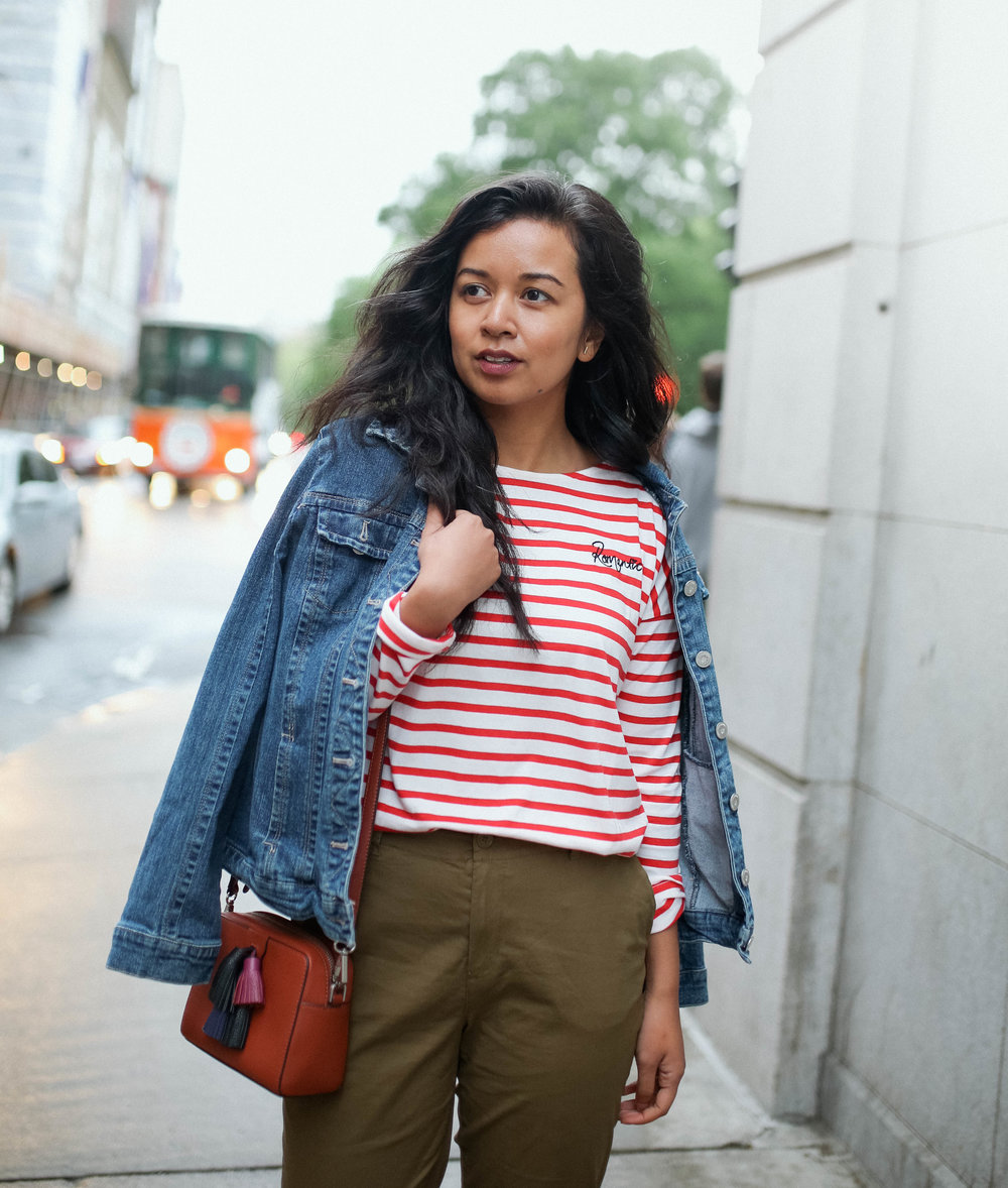 The Stripe Tee - I LOVE patterns. And stripes has been a consistent pattern in my wardrobe. Nothing screams out