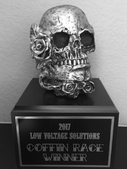 The 2017 LVS Coffin Race Trophy