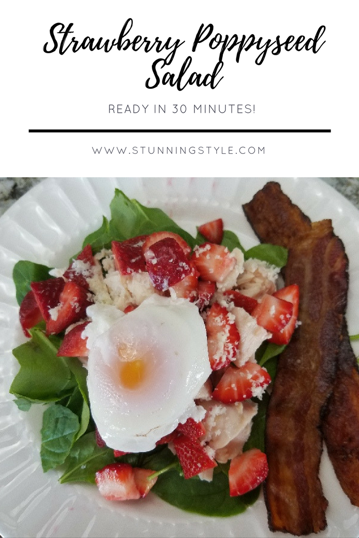 Strawberry spinach salad with poppyseed dressing is one of our very favorite meals. As an added benefit it is also pretty healthy. With tweaks here and there it can fit most diets: Paleo, Whole30, THM, gluten-free and dairy-free.