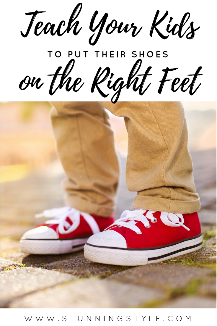 Your little one can learn to put his shoes on the right feet before they are old enough for preschool with this one simple trick! They get to feel like a big kid, and you get a break!