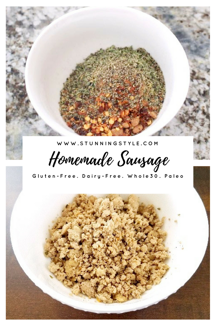Sausage can be a great healthy, filling breakfast option for anyone on Paleo, Whole30, THM, gluten-free, dairy-free, or any other restricted diet. The stuff from the store isn't healthy, and homemade breakfast sausage is so quick and easy to make with my seasoning recipe. You can make it into any shape you want, links, patties, or crumble, and you can use pork or turkey to fit your dietary needs. This is so delicious you won't go back.