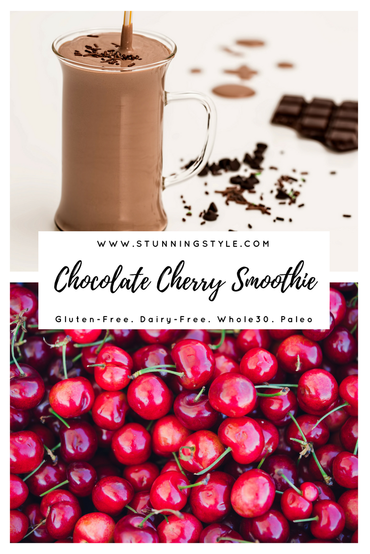 I love healthy breakfast smoothies, and for me they have to be dairy-free and paleo (this one is even vegan!), so I make mine with almond milk. It's also perfect for kids. Chocolate cherry smoothie an easy, high-protein breakfast, lunch or snack that satisfies my sweet tooth and keeps me full until lunch. I love to drink them before I work out so I have energy without feeling weighed down.