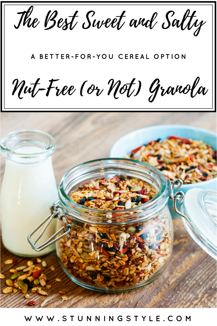 Since I gave up breakfast cereal so many years ago, I needed an easy, healthy, homemade granola clusters recipe that was quick to make. Oh, and didn't call for nuts. That's a tall order, but I did it. Honey and coconut oil replace less healthy oils and sugar.I can eat this guilt-free and enjoy every last bite.