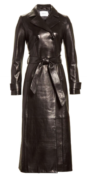 If I could dress like a movie character for the rest of my life (and have the same body as her), it would be Trinity from the Matrix. An all leather trench coat is definitely an investment piece, and perfectly classic for the right person. If you buy this, can I come over and just try it on? And maybe take my picture in it? Thanks.