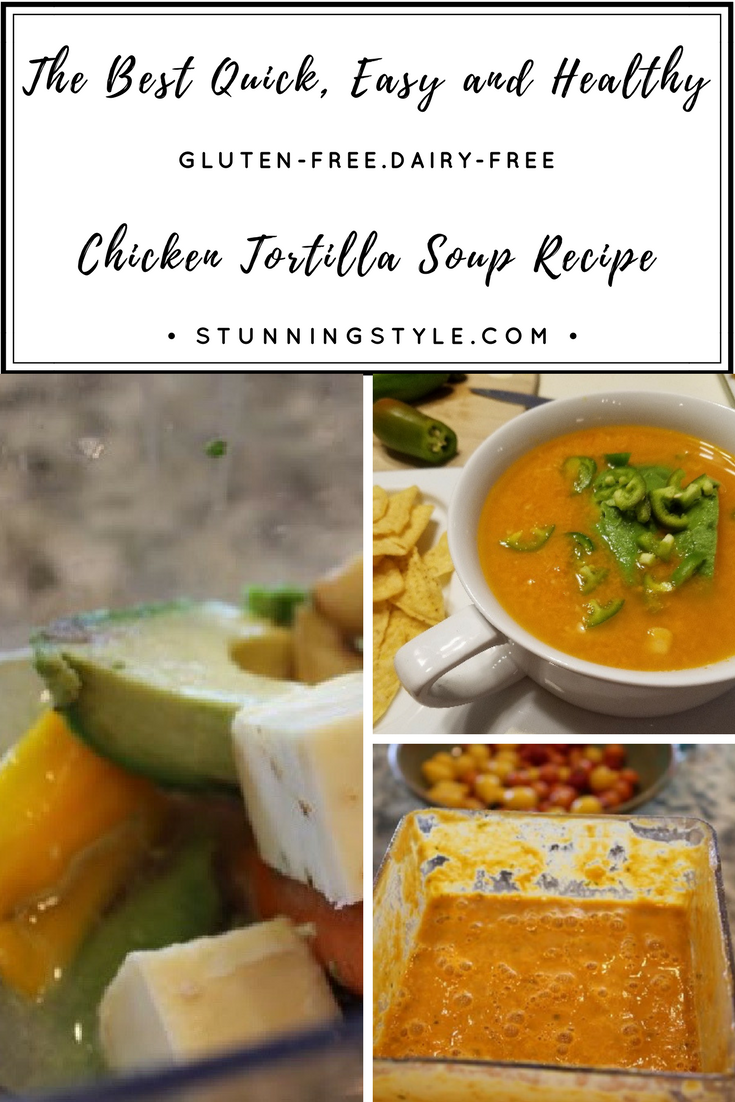 My healthy chicken tortilla soup recipe is so easy that you won't even need a slow cooker. This 10-minute recipe is the best one I have ever tasted, and is my favorite way to use up the remnants of my summer garden. It's perfect for a busy night.