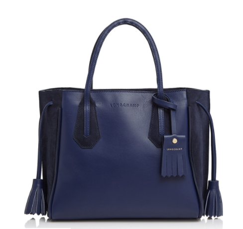 Navy Leather Tote