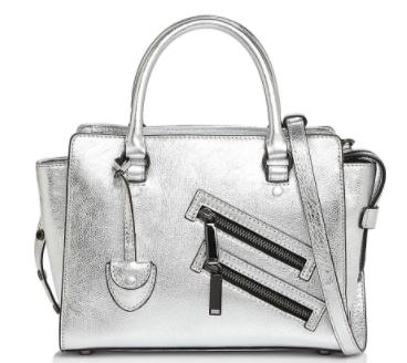 Silver Zipper Bag