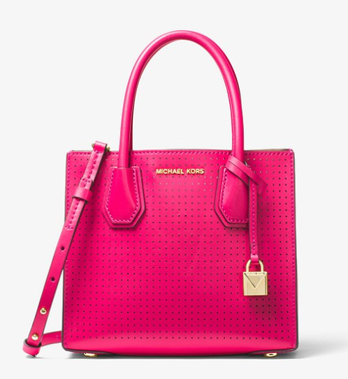 Hot Pink Perforated Purse