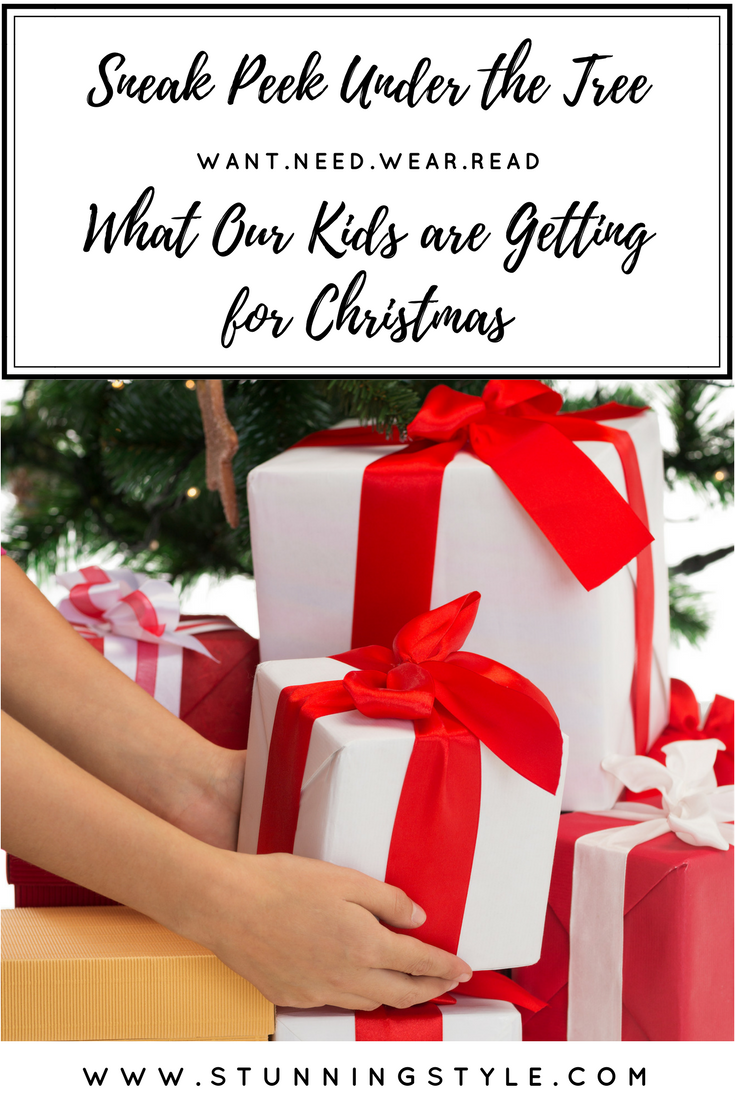 As I've shared the way we give gifts with experiences, the want, need, wear, read method, and the non-tech toys, I wanted to show you exactly how it looks, so in this post you get to see EXACTLY what our kids are getting for Christmas this year. Come take a sneak peek under our tree!