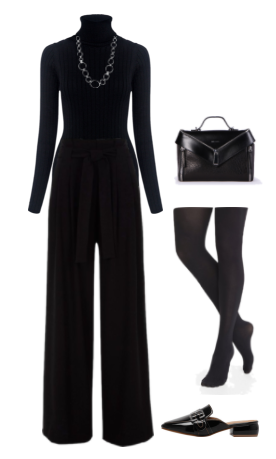 8 Tips to be Perfectly Chic Dressed in All Black. Find more outfit inspiration at Stunning Style.