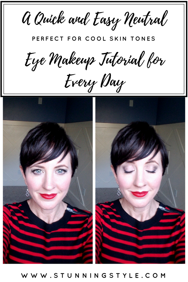 If you have cool skin tones, are a true winter, clear winter, deep winter, or look best in bold, pure hues, this eye makeup look is perfect for you! It is perfect with any lip color, and any season. This quick and easy look is achievable in 5 minutes or less, and has a simple makeup palette that you will use over and over again. It's a neutral look for beginners that goes with any outfit and any lip color. In this makeup video tutorial I show you step-by-step exactly how to create this look. Come check it out!