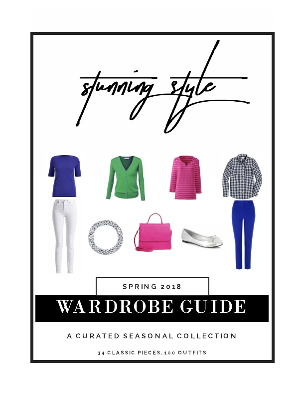 If you are looking for a colorful spring capsule wardrobe, outfit inspiration, or a way to refresh your current wardrobe, the Stunning Style Wardrobe Guide - A Curated Seasonal Collection is perfect for your casual or work lifestyle. 34 classic style wardrobe pieces make 100 outfits for the Type 4 bold, stunning woman and the true winter, cool winter and dark or deep winter woman. I've combined tees, sweaters, jackets, jeans, shirts, shoes, skirt, dresses and accessories to give you the perfect spring wardrobe.