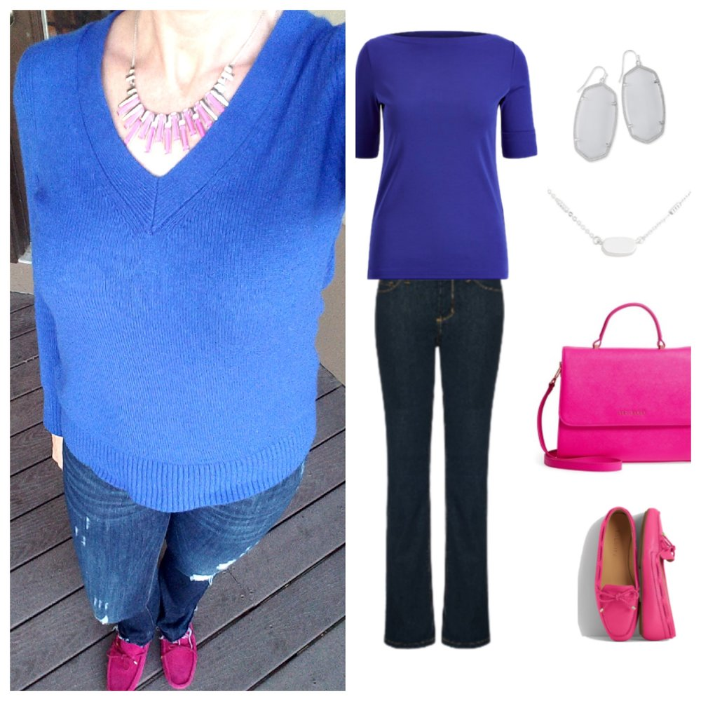 Stunning Style. Bold everyday style from a busy stay-at-home mom of 6 kids, spring style. Bold colors, bold lips, classic edgy style outfits. Dressing Your Truth Type 4 DYT T4 T4/3. Spring outfits.