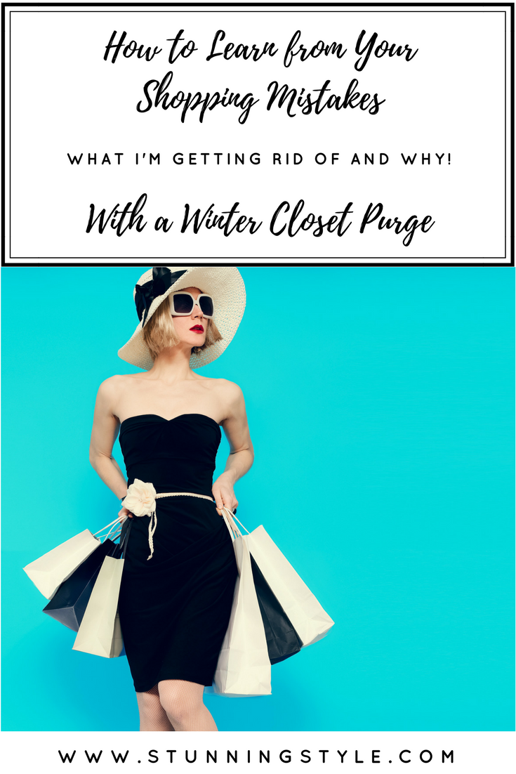 Oh the guilt of a shopping mistake, or several! It stares you down every time you walk into your closet, but it doesn't have to be that way! A closet purge is the perfect opportunity to learn from those shopping mistakes and turn them into successes. Come watch me purge my own mistakes from the closet and find out what I learned, and how you (and I) can avoid repeating them.