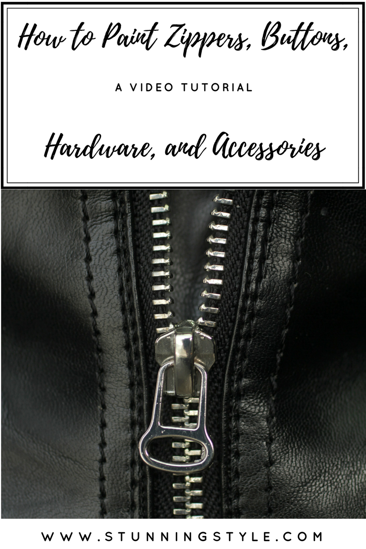 If you've ever found an item that was almost perfect, except you didn't like the color of the zipper, snaps, buttons or hardware, I have a video tutorial and Q&A to show you exactly how I do it, and how easy it can be! Come check out my step by step instructions and you will be painting zippers, too. - Stunning Style