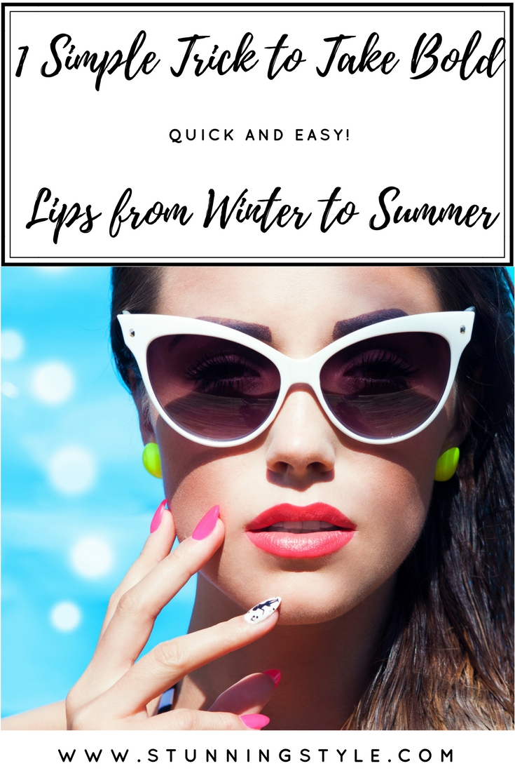 If you love bold lips as much as I do, You may be wondering how to wear them in the summer without feeling too made up. I have 1 simple trick to take those bold colors from winter to summer when we all want to lighten our makeup without being washed out.