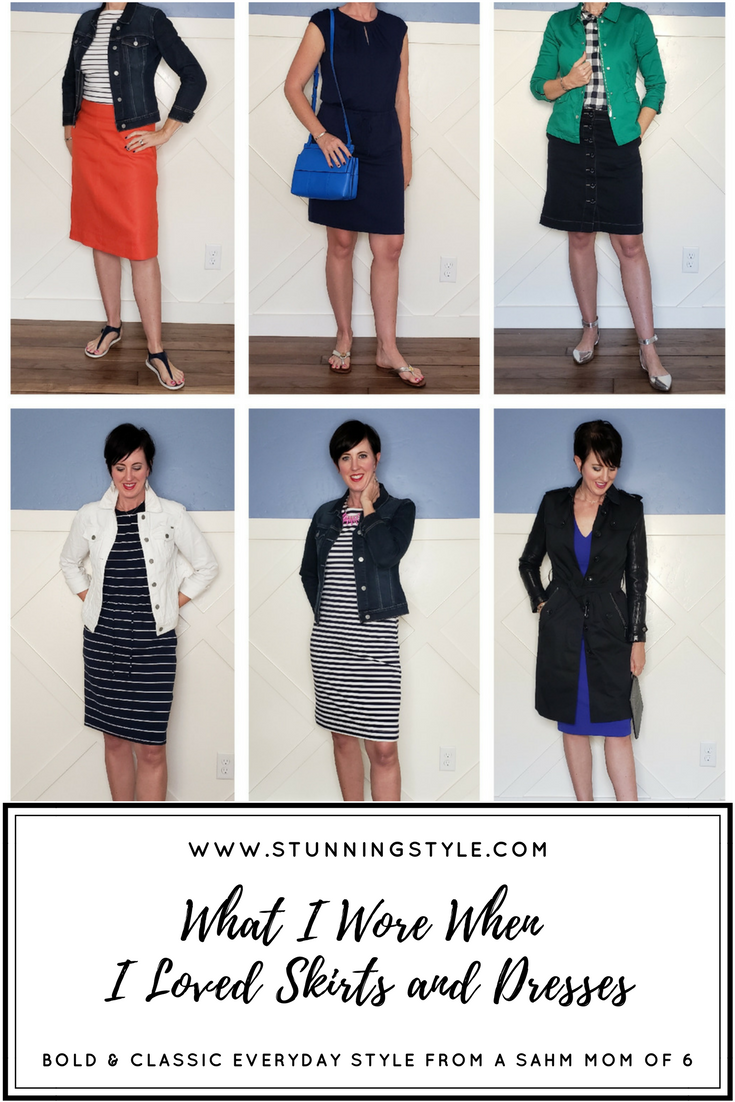 If you want something other than shorts for the spring and summer, skirts and dresses to the rescue! They are comfortable, stylish, easy, and make you look immediately put together. This week when the temperatures finally warmed up, I pulled out some of my favorite skirts and dresses. Come see what I wore when I loved and skirts and dresses.