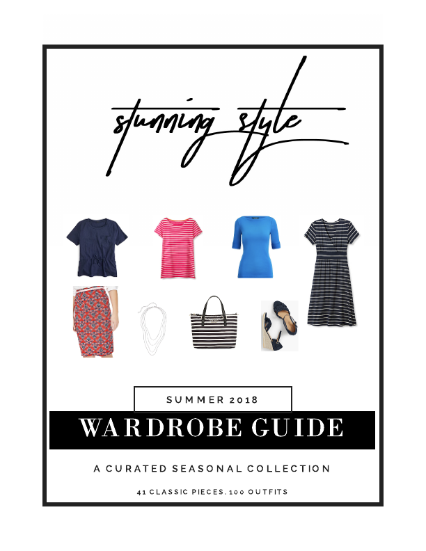 If you are looking for a colorful summer capsule wardrobe, outfit inspiration, or a way to refresh your current wardrobe, the Stunning Style Wardrobe Guide - A Curated Seasonal Collection is perfect for your casual or work lifestyle. 41 classic style wardrobe pieces make 100 outfits for the Type 4 bold, stunning woman and the true winter, cool winter and dark or deep winter woman. I've combined tees, shirts, shoes, skirts, dresses and accessories to give you the perfect summer wardrobe.