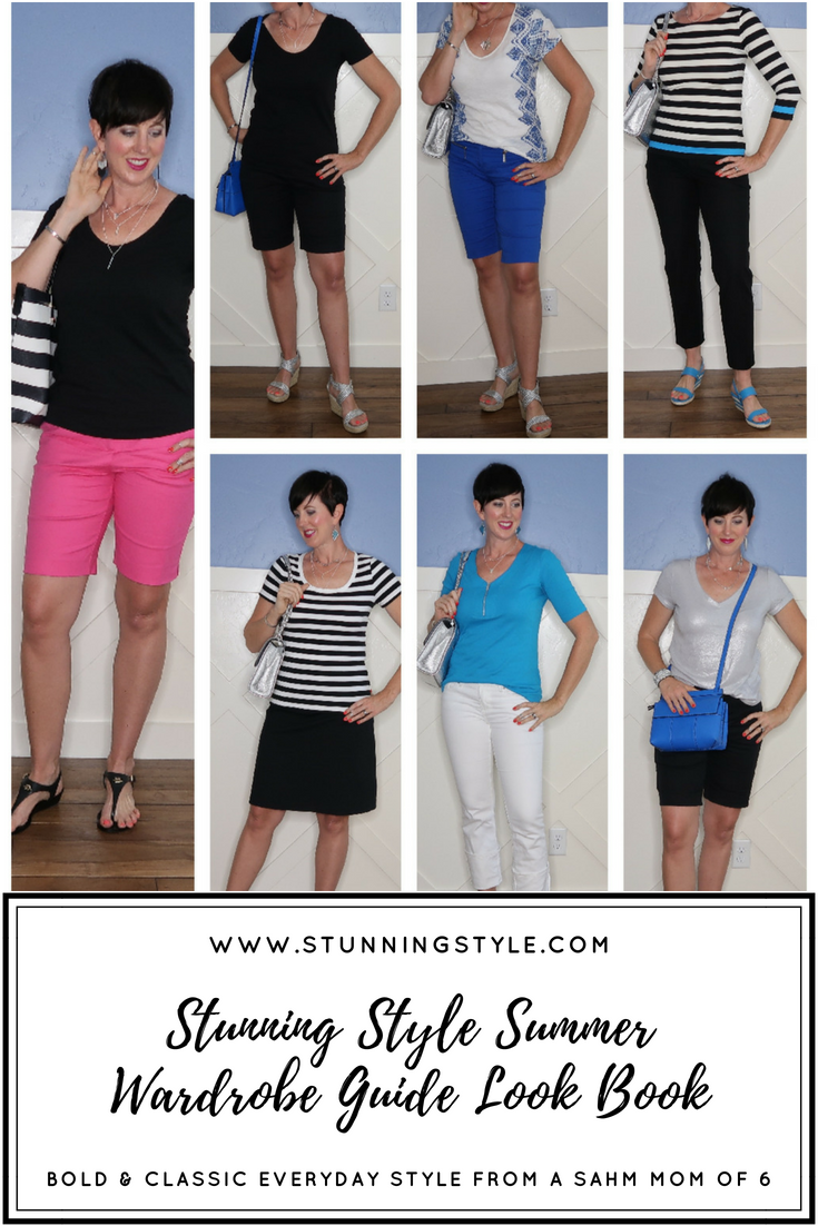 Here is a video look book sneak peak into 7 more of the 100 outfit combinations included in the Stunning Style Summer Wardrobe Guide! This week I showed you what these outfits looked like when I shopped my closet and made them my own.