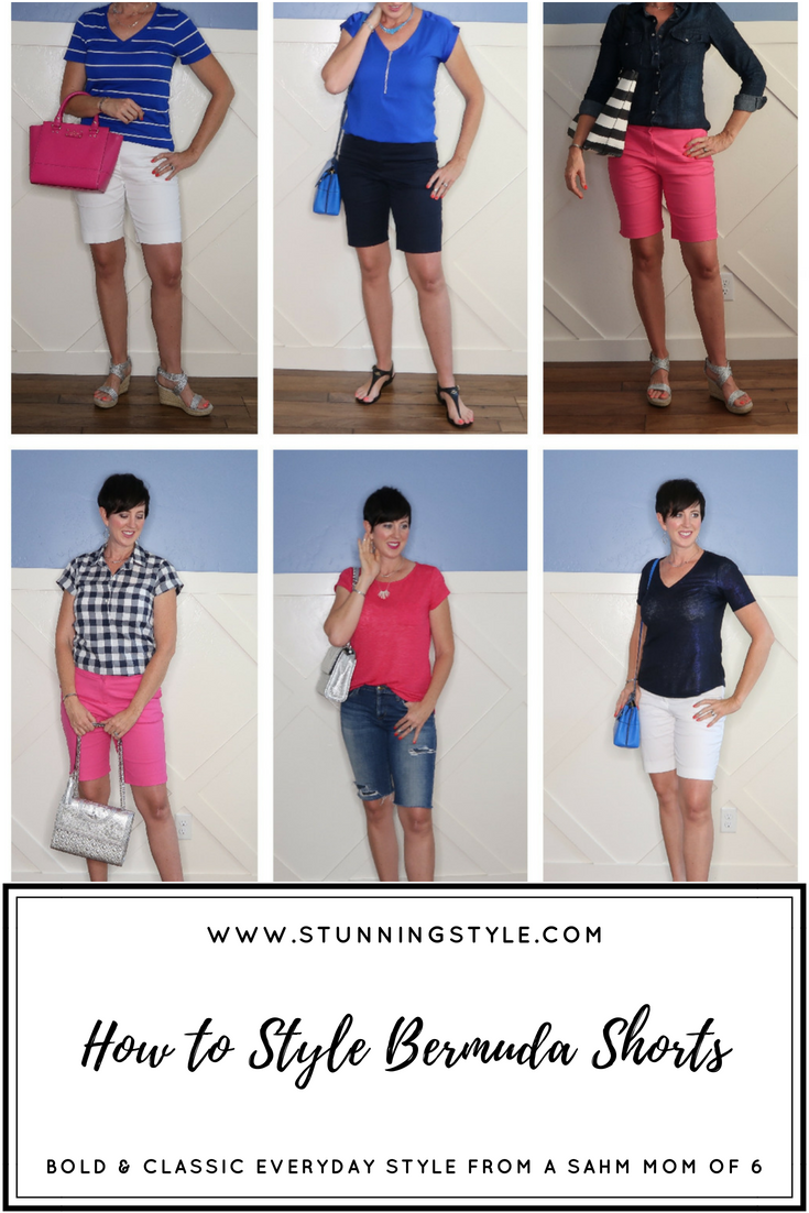 Bermuda shorts are so hard to style, but if you get a few details right, you can put together perfect casual or dressed up summer outfits. If you need ideas for the right shirts, sandals and accessories, I've got you covered!