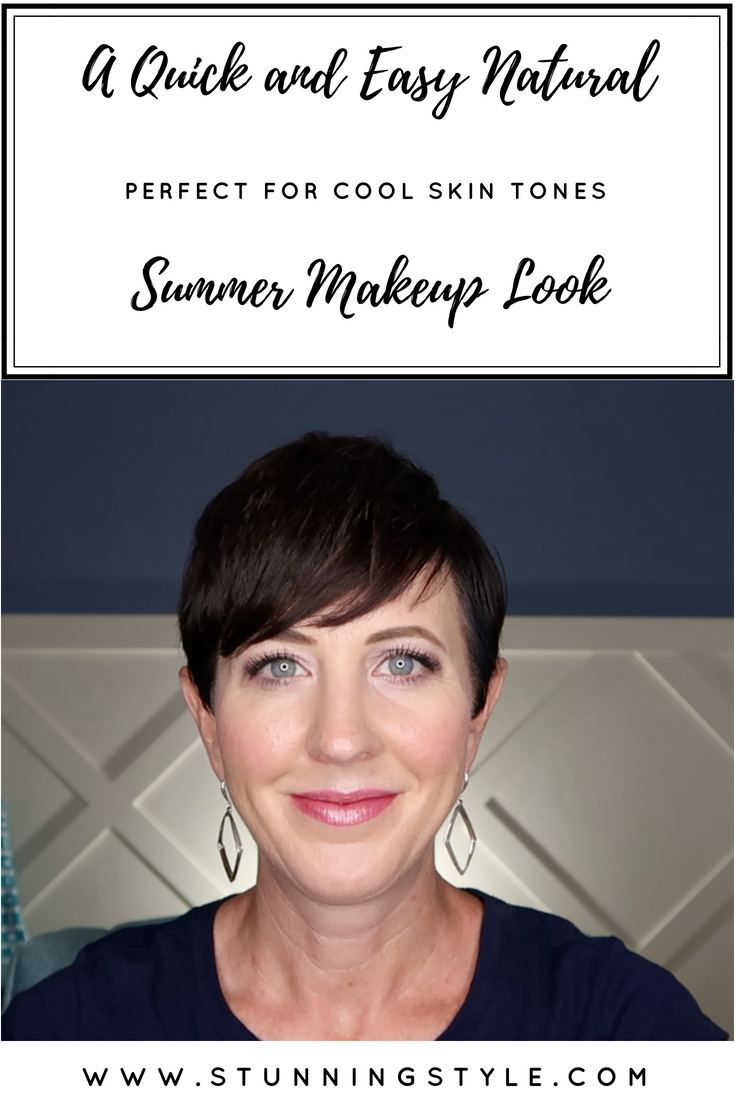 Everything about summer is lighter, including the makeup. If you are a winter or DYT Type 4, a natural makeup look is challenging. Bold black and white makeup feels harsh in the summer. This is a quick and easy natural summer makeup look for cool skin tones that will leave you looking fresh and as stunning as ever.