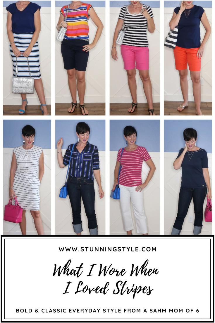 If you love striped outfits, there are so many different ways to wear it besides a Breton tee! I'm sharing all my favorite ideas too wear stripes this summer, from navy or black and white, casual or work, and tees to dresses. The last one will surprise you!