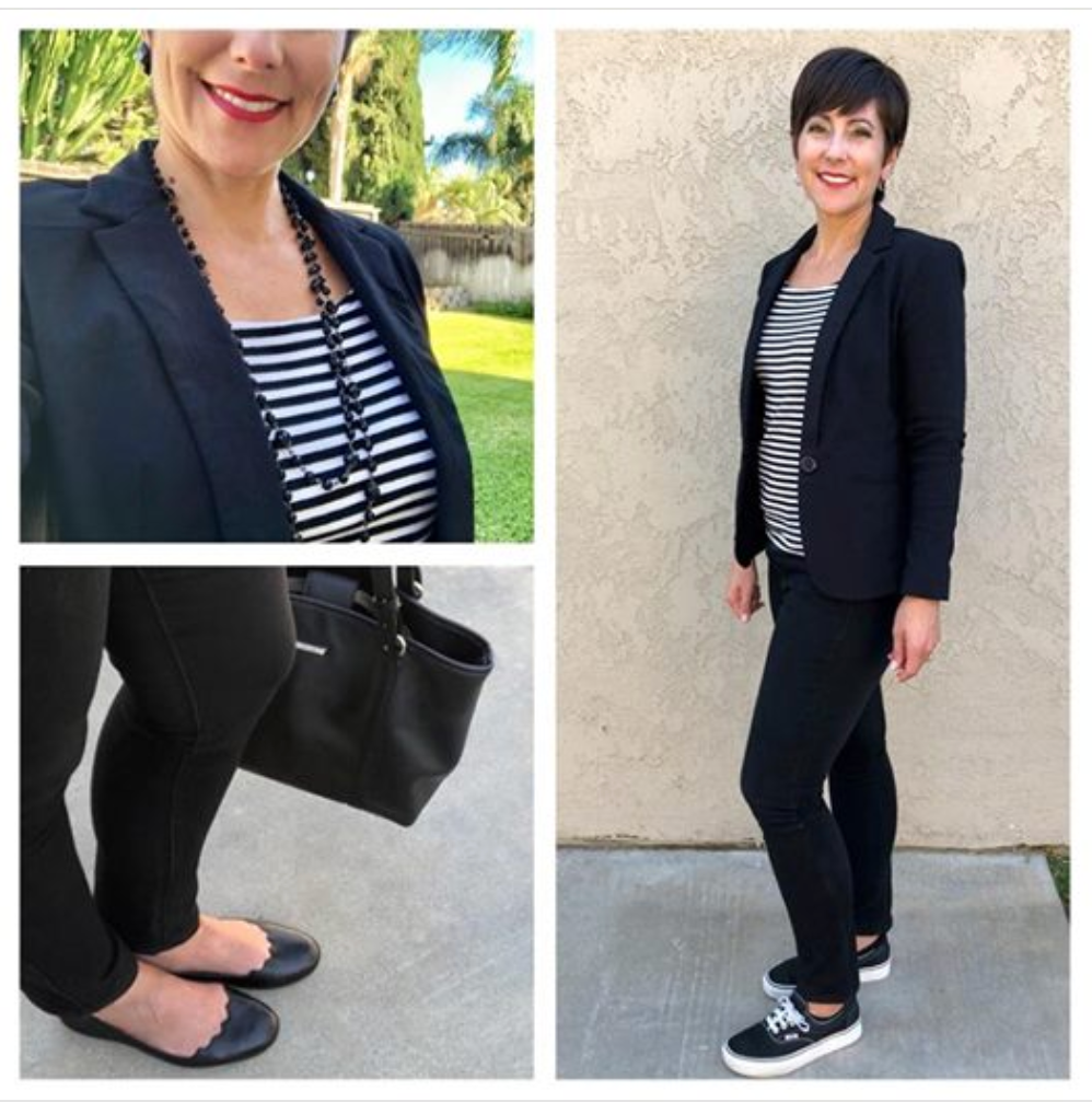 Week 2 of the Summer to Fall Transition Challenge, and it was perfect for the cool mornings and the warm afternoons. Not sure what to wear during that awkward bumper season? I've got you covered!