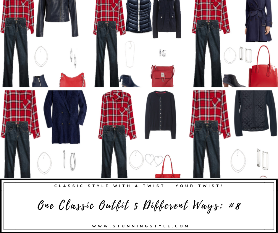 One Classic Style outfits styled 5 different ways. Which is your favorite? Cute Classic, Soft Classic, Minimal Classic, Edgy Classic or Sporty Classic?