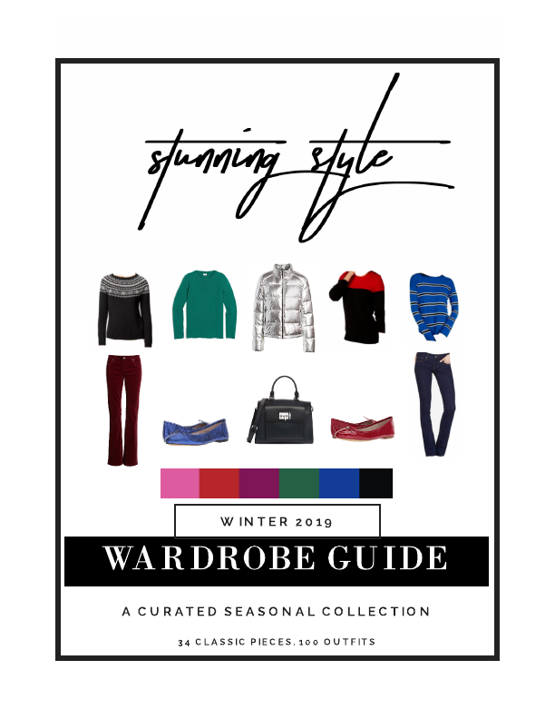 The Stunning Style Winter Wardrobe Guide is here! 34 classic pieces. 100 outfits. All the shopping links. Exclusive styling content. Get your copy and all of the benefits of the Society today!
