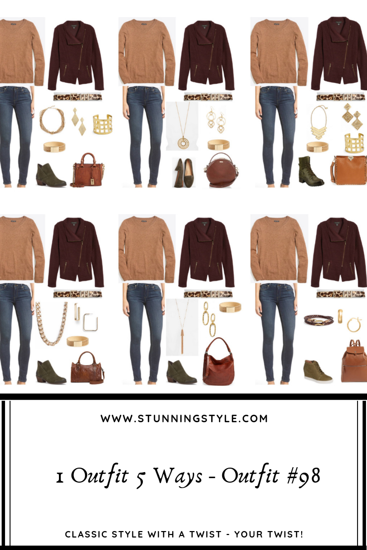 Today I'm sharing with you the subtle ways you can add your Classic Style Twist to your outfit by styling outfit #98 from the Stunning Style Wardrobe Guide, a curated capsule wardrobe collection with 30+ pieces and 100 outfits for each of the Classic Style Twists. These are small, but impactful changes that tell a story of who you are and how you are showing up in life!