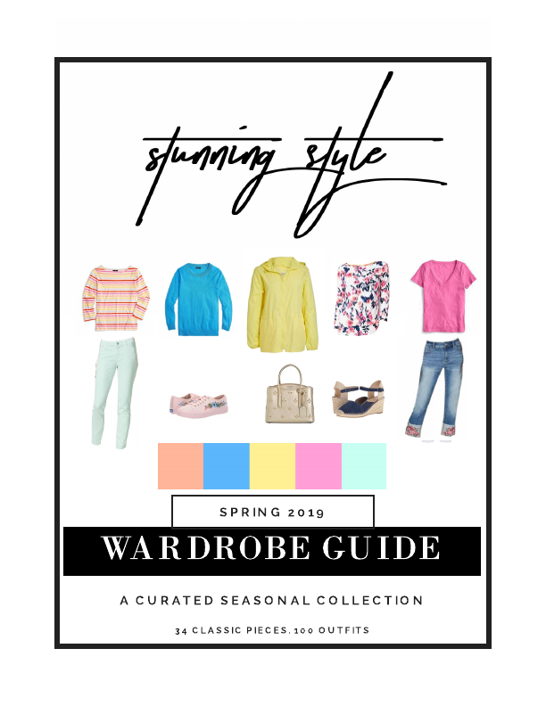 The Stunning Style Spring Light Bright Tints Wardrobe Guide is here! 34 classic pieces. 100 outfits. All the shopping links. Exclusive styling content. Get your copy and all of the benefits of the Society today!