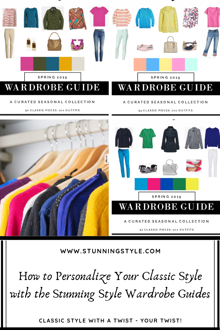 If you crave having a personal style that is SO YOU, I've got the perfect capsule wardrobe guide for you! With 3 color palettes available (Bold Pure Hues, Light Bright Tints, and Rich Warm Shades), you can customize your classic style with the details that make it perfect for you. Are you Cute Classic, Edgy Classic, Minimal Classic, Soft Classic or Sporty Classic? These guides have everything you need including a curated capsule wardrobe collection, all the shopping links and 100 outfits. Come check out how to customize each one for the perfect spring outfits!