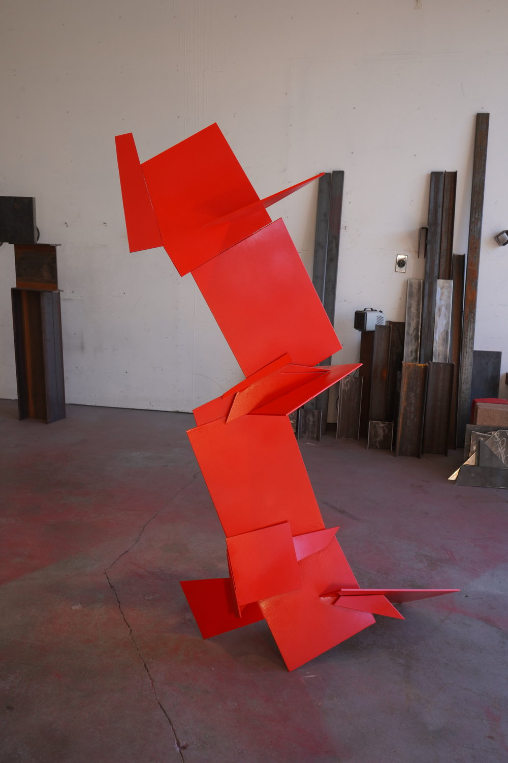 Red No. 3: Some Sculptors Kill Themselves, 2019, $3000