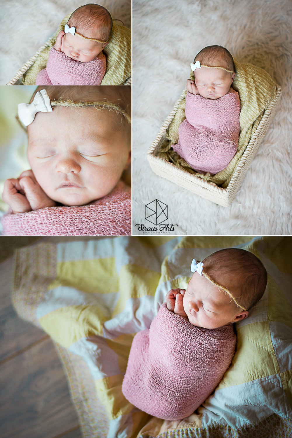 Straus Arts Photography: Lifestyle Newborns.  Sweet little Hazel