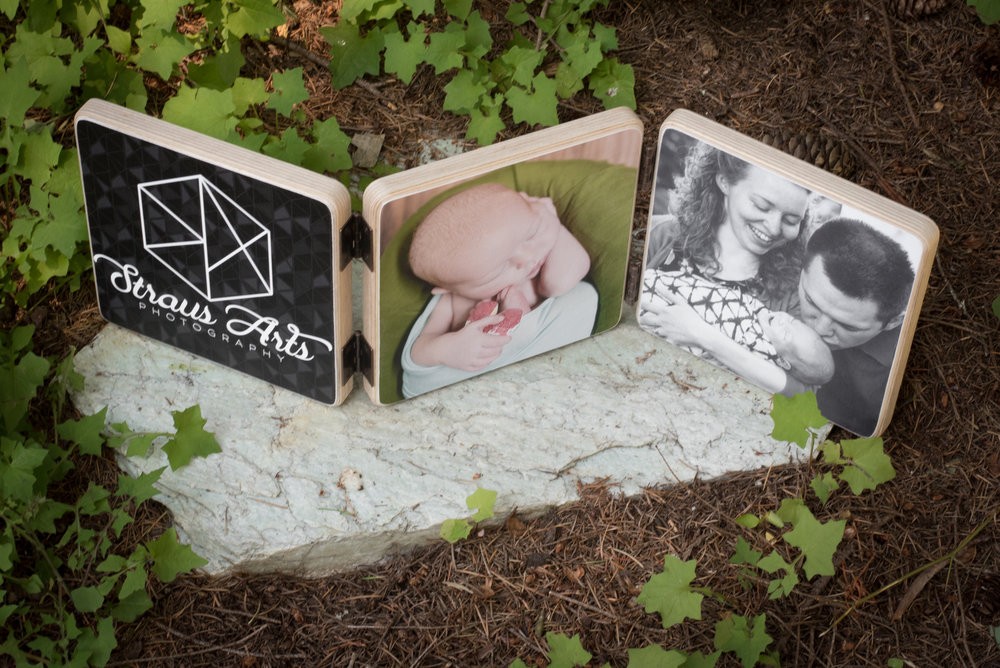 Ask about products that are only available for newborn sessions. Like this wood photoblock!