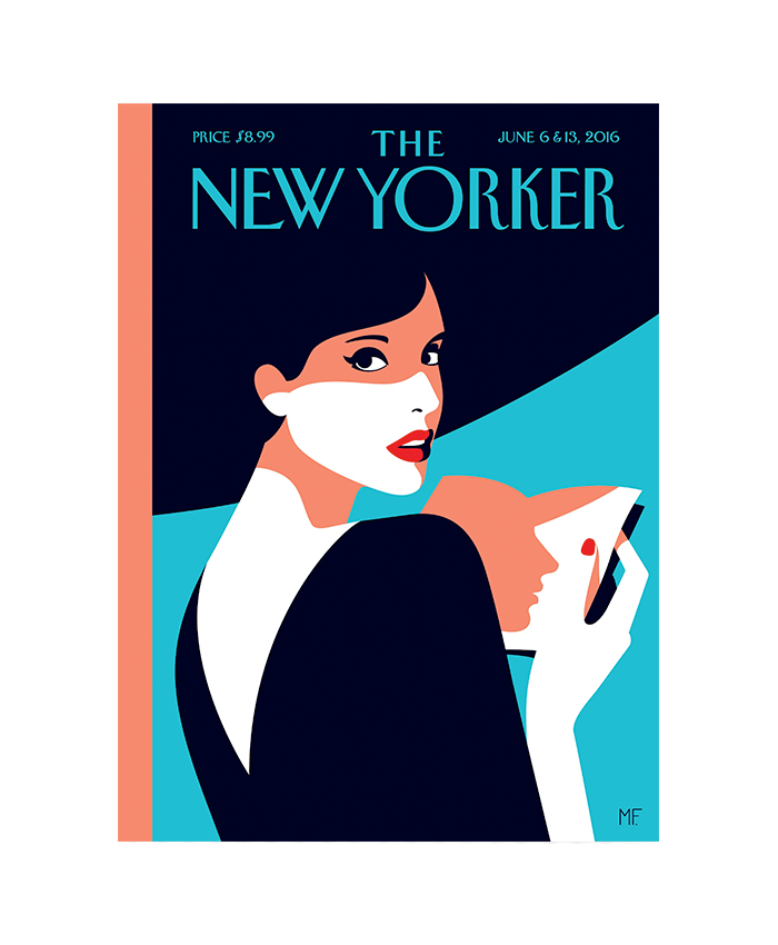 """Over 90 years later, """"The New Yorker"""" remains committed to its masthead style. (Cover Illustration: """"Page Turner,"""" by Malika Favre.)"""