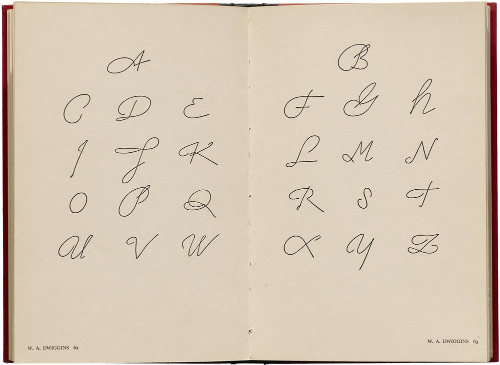 "Interior spread from ""American Alphabets"" (New York: Harper & Brothers, 1930). Collection of Letterform Archive."