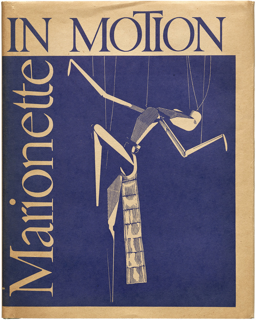 Cover for Marionette in Motion: The Püterschein System Diagrammed, Described (Detroit: Puppetry Imprints, 1939). Collection of Letterform Archive.
