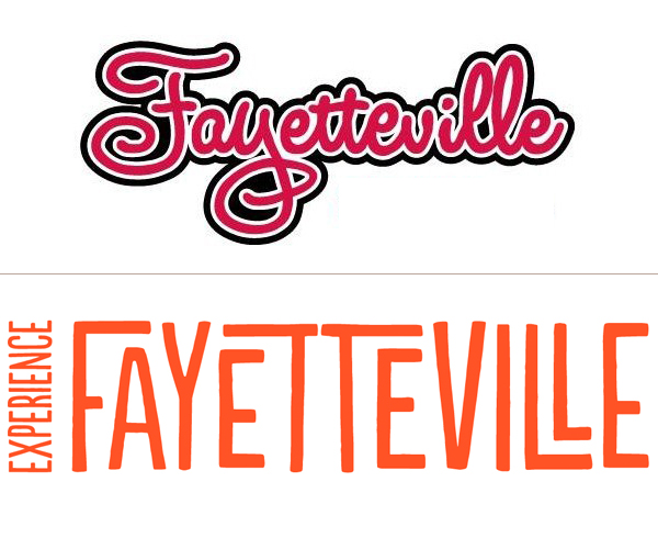 Fayetteville's logos old and new.