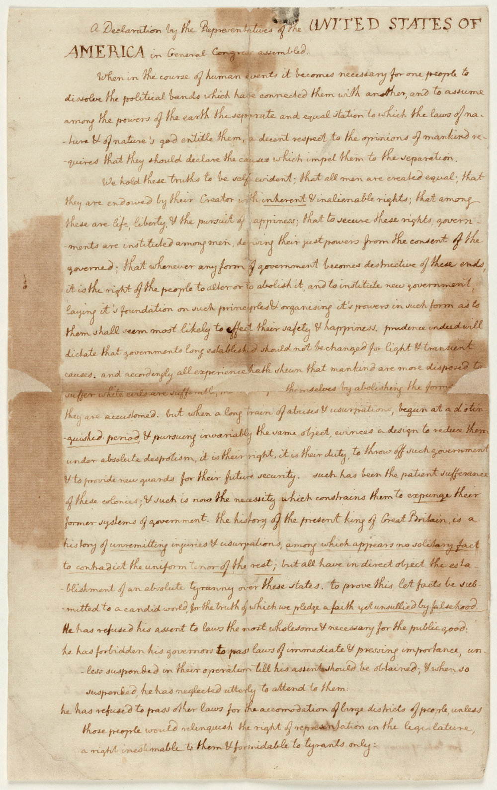 Thomas Jefferson's manuscript