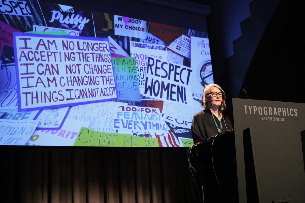 "Marlene McCarty with ""Resist Typography"""