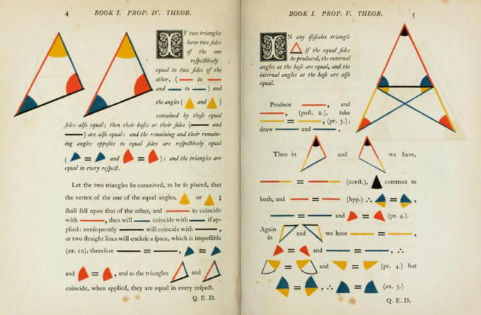 Oliver Byrne's edition of  Elements, 1847
