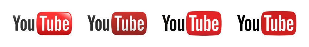 The evolution of YouTube's logo from 2005 to 2017.