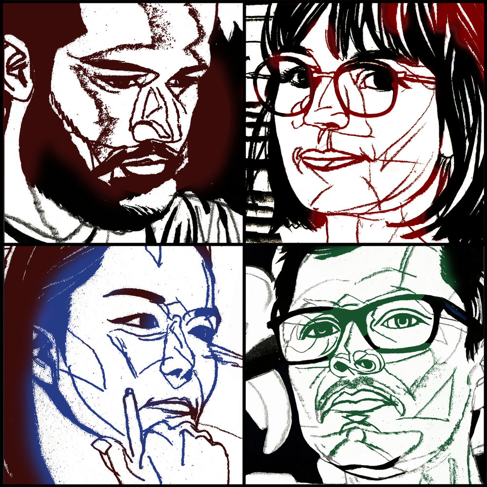 Mohamad Dakak, Roxane Gataud, Cristian Vargas, and Minjoo Ham—clockwise from upper left.