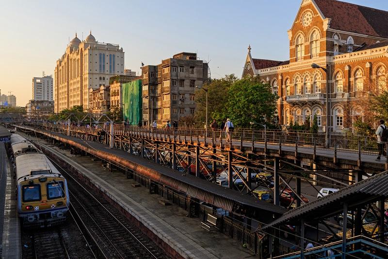The Charni Road railway station in Mumbai.