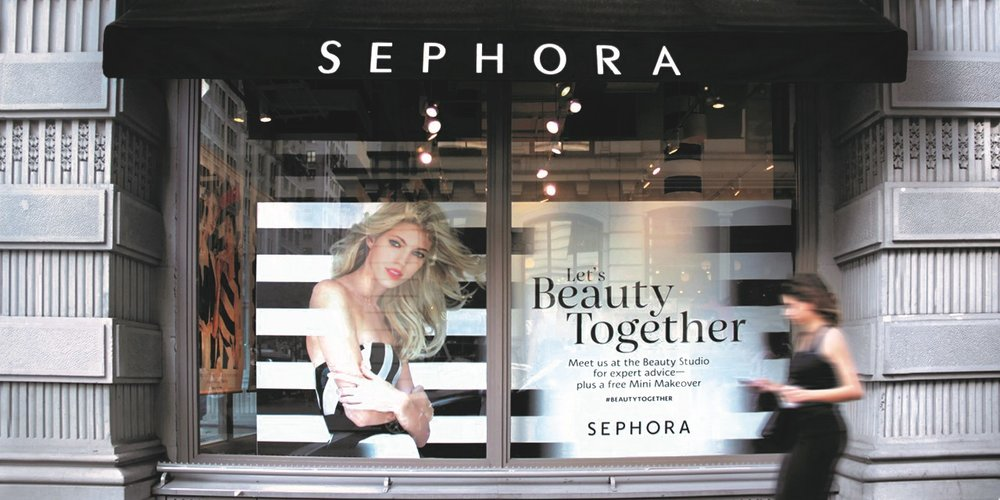 A Sephora storefront with Schriftlabor's Sephora Type System in use