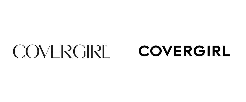 Covergirl's old logo (left) and new logo (right)