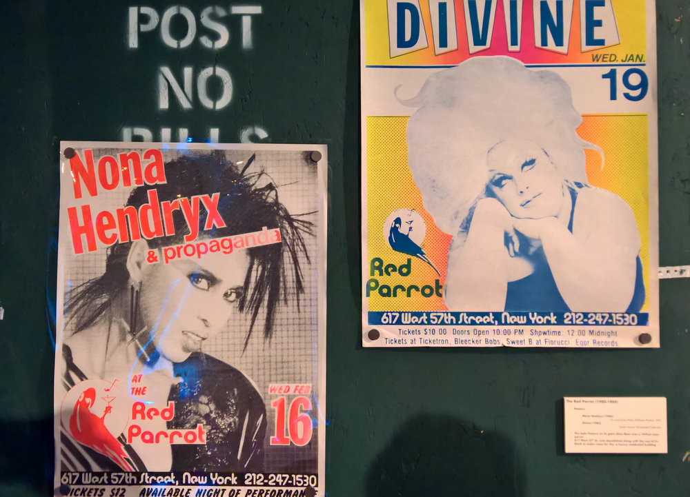 The Red Parrot posters for Nona Hendryx (1983) and Divine (1983)