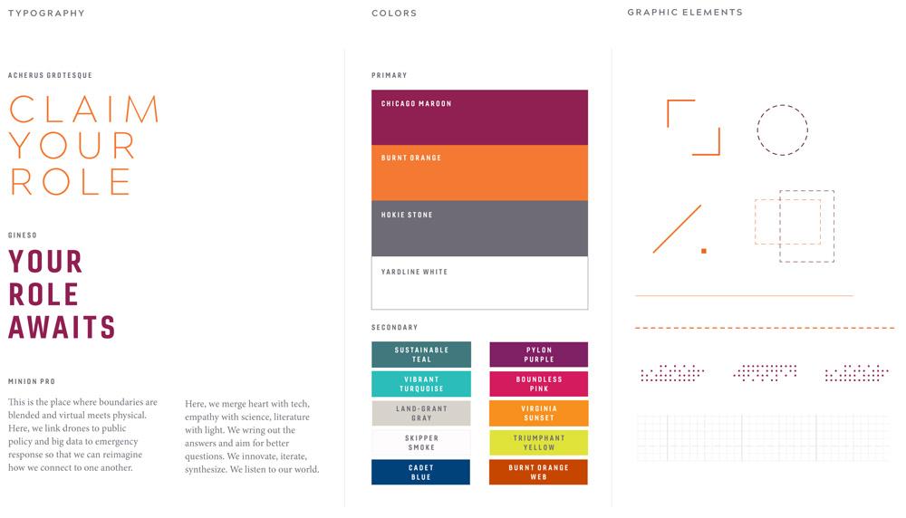New Virginia Tech brand elements